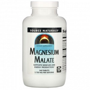 Source Naturals, Magnesium Malate, 3,750 mg, 360 Tablets