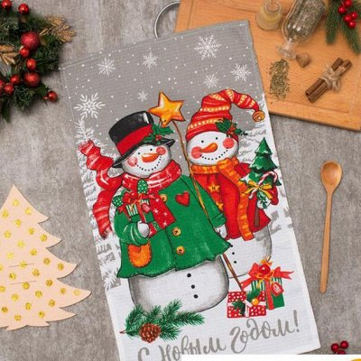 Новогодний текстиль для дома - Идеи для подарка. — Кухонные полотенца — Кухонные полотенца