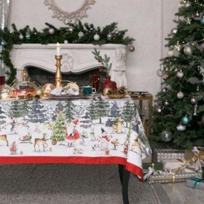 Новогодний текстиль для дома - Идеи для подарка. — Скатерти — Клеенки и скатерти