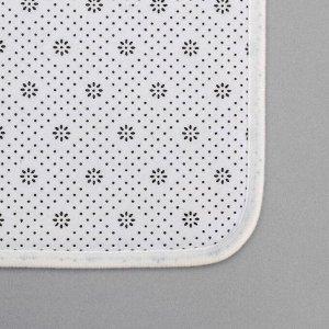 Набор ковриков для ванны и туалета «Камень», 2 шт: 79х50, 50х39 см, цвет бежевый