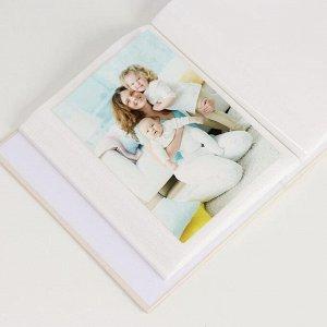"Фотоальбом на 100 фото 10х15 см ""Птенчики и сердечко из листьев"" 18х14х5 см"