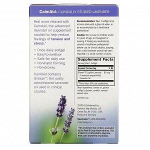 Nature&#x27 - s Way, CalmAid, клинически изученная лаванда, 30 мягких желатиновых капсул