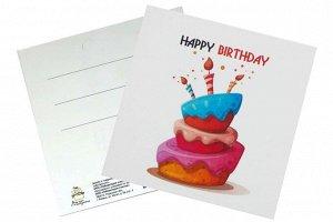 Мини открытка- С днем рождения ( по английски )