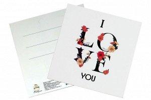 Мини открытка- я тебя люблю ( по английски)