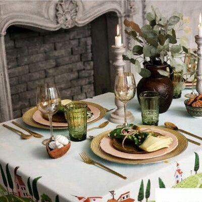 ОГОГО Какой Выбор Домашнего Текстиля — Набор столового белья — Клеенки и скатерти
