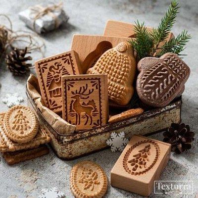 Милые пряничные скалки с объемным узором! — Штампы для пряников и печенья — Для запекания и выпечки