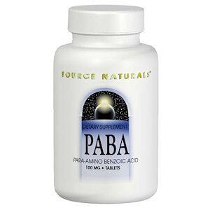 Source Naturals, Парааминобензойная кислота (ПАБК), 100 мг, 250 таблеток
