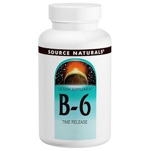 Source Naturals, B-6, 500 мг, 100 таблеток