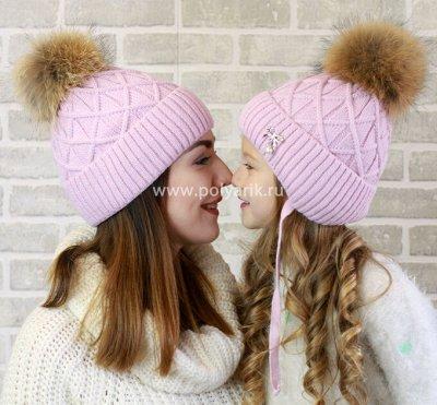ПОЛЯРИК: Утепляемся Шапочки/Перчатки/Варежки  — ❄️Комплекты МАМА&ДОЧКА — Шапочки