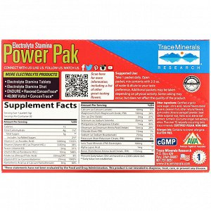 Trace Minerals Research, Electrolyte Stamina Power Pak, Guava Passion Fruit, 30 Packets, 0.18 oz (5 g) Each