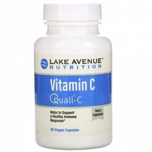Lake Avenue Nutrition, Витамин С, Quali-C, 1000 мг, 60 растительных капсул