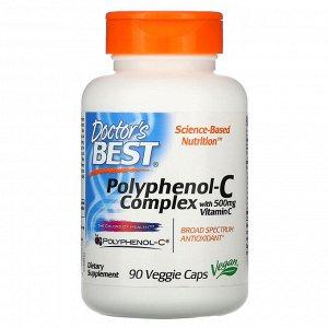 Doctor&#x27 - s Best, Polyphenol-C Complex with Vitamin C, 90 Veggie Caps
