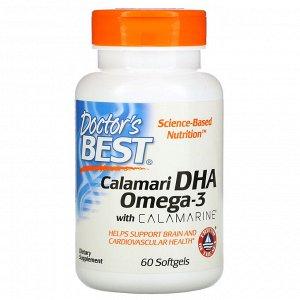 Doctor&#x27 - s Best, Calamari DHA Omega-3 with Calamarine, 60 Softgels