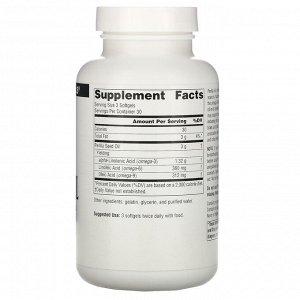 Source Naturals, Перилловое масло, 1000 мг, 90 гелевых капсул