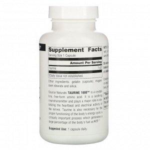 Source Naturals, Taurine, 1,000 mg, 120 Capsules