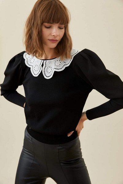 DEFACTO- осенняя подборка - платья, свитеры, кардиганы.  — Черные свитеры и джемперы — Джемперы