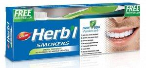 Паста зубная DABUR HERB'L SMOKERS (Для курильщиков, интенсивное очищение эмали) with Toothbrush   + зубная щётка ультра мягкая