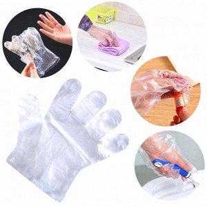 Перчатки полиэтиленовые хозяйственные одноразовые, размер  L, 100 шт.