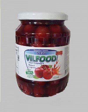 Вишня в сиропе Vilfood,720 мл.