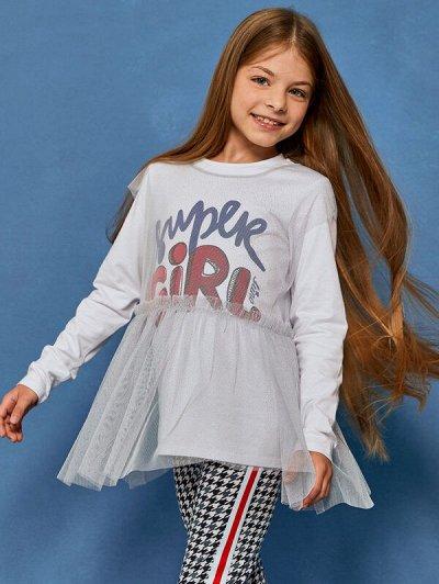 Juno — крутые новинки. Детский трикотаж — Акция. Девочки (128-152) — Блузки, туники