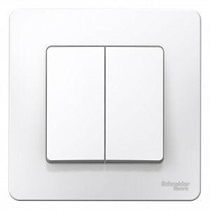 Выключатель 2-кл. 6А, белый, встраив, BLANCA, Schneider Electric