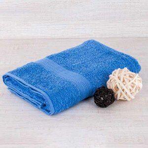 Полотенце махровое голубое 400г 70*140