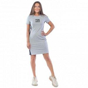 Платье  КЛП1390П7 серый
