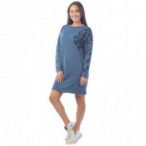 Платье из футера  ФП1406П5 индиго