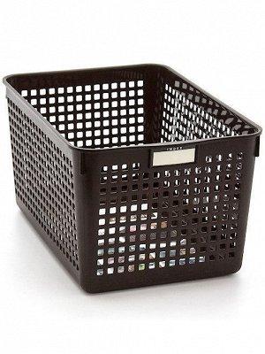 Корзина Корзина   182*264*142мм ШОКОЛАД. Красивые и стильные корзины для хранения вещей идеально впишутся в интерьер любой квартиры, сэкономят место, добавят ярких акцентов в дизайн. Корзины подойдут
