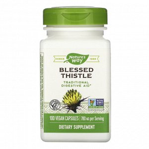 Nature&#x27 - s Way, Blessed Thistle, 780 mg, 100 Vegan Capsules