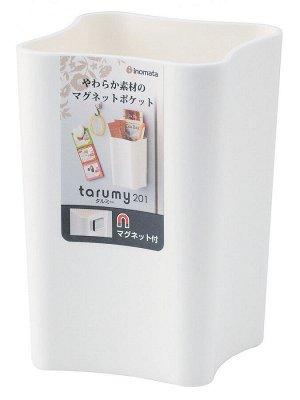 Органайзер Органайзер на магните мягкий 70*75*106мм БЕЛЫЙ. Стильный органайзер ТМ Inomata. Органайзер удобен и прост в применении, он примагничивается к холодильнику, либо к любой другой металлической