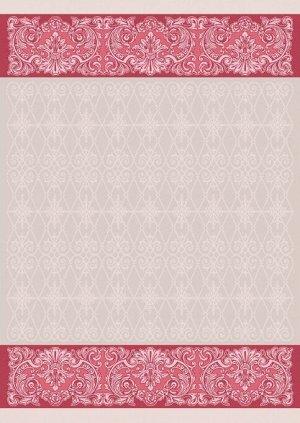Полотенце 1857ЯК х/б пестр бел/цв 50х70 жакк ажур Мадера натур красн 10,93 4,1 (по 40)