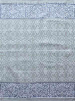 Полотенце 1857ЯК х/б пестр бел/цв 50х70 жакк ажур Мадера сер голуб 10,0 10,16 (по 40)
