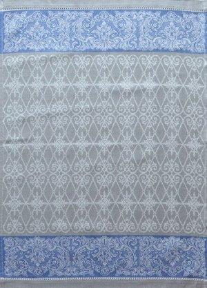 Полотенце 1857ЯК х/б пестр бел/цв 50х70 жакк ажур Мадера сер синий (по 40)