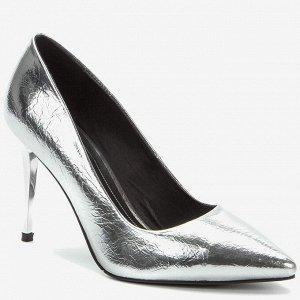 908073/01-09 серебряный иск.кожа женские туфли
