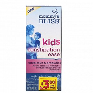 Mommy&#x27 - s Bliss, Kids Constipation Ease, 4 Years+, Orange, 4 fl oz (120 ml)