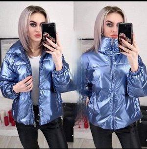 """Женская Одежда 10001 """"Стальная Однотон"""" Голубая"""