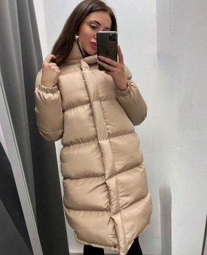 """Женская Одежда 12001 """"Однотон Удлинен"""" Светло-Бежевая"""
