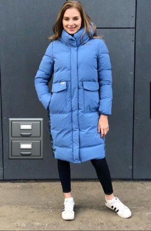 """Женская Одежда 18001 """"Блестящ Спина"""" Голубая"""