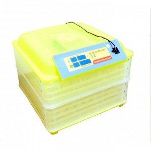 Инкубатор с терморегулятором, гигрометром и автопереворотом, вместимость до 112 яиц, овоскоп