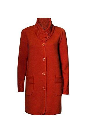 Пальто 3173 К (без подкладки)  Оранжевый