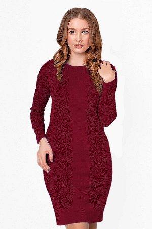 Платье вязаное 4223 К  Вишневый