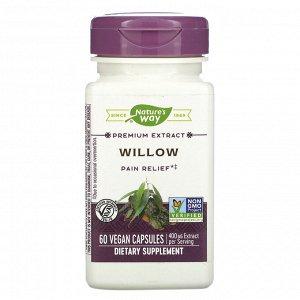 Nature&#x27 - s Way, Willow, 400 mg, 60 Vegan Capsules