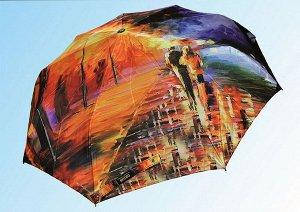 Зонт Полный автомат Ткань: сатин Размер купола по дуге: 118 см. Длина спицы: 23 дюйма Длина в сложенном состоянии: 29 см Вес: 530 г