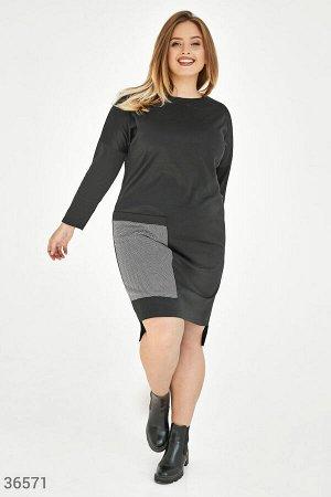 Комфортное асимметричное платье