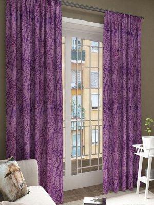 """Блэкаут """"Абстракция"""" фиолетовый/фиолетовый (200*270)/1, Блэкаут """"Абстракция"""" фиолетовый/фиолетовый(200*270)/1, шт"""