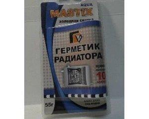 Клей холодная сварка Mastix Герметик радиатора MASTIX 55гр. в блистере (60/уп)