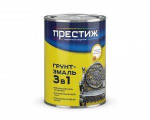 Грунт-эмаль ПРЕСТИЖ по ржавчине КРАСНО-КОРИЧНЕВАЯ 0,9 кг (14/кор)