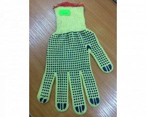 Перчатки - №2 светло-желтые синяя точка (вес 44 г) (10 пар/уп) (600 тюк)
