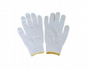 Перчатки - №4 белые х/б прочные без облива (вес 30г) (10 пар/уп) (500 тюк)